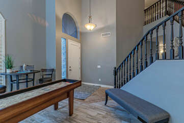 Front entrance foyer welcomes you to our well appointed home.