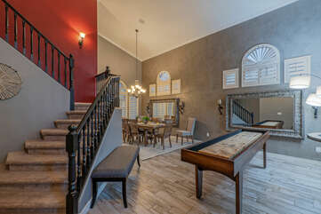 Our home is open and spacious with a great room, game room and formal dining room on the ground floor.
