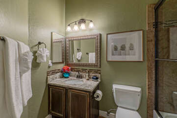 Bathroom 3 is on the ground floor and is shared by Bedroom 4 and visitors.