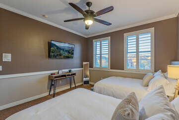 All bedrooms invite restful sleep and time away from the crowd to read or relax.