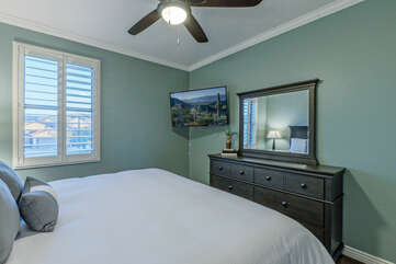 ALL bedrooms have smart TVs and ceiling fans.