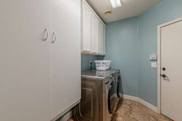 The laundry facilities will help you keep your wardrobe ready for the next adventure. Detergent is supplied.