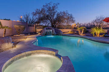 Welcome to TWILIGHT RIDGE, our 2 story, 4 BR, 3 BA home with a private heated pool and inground hot tub.