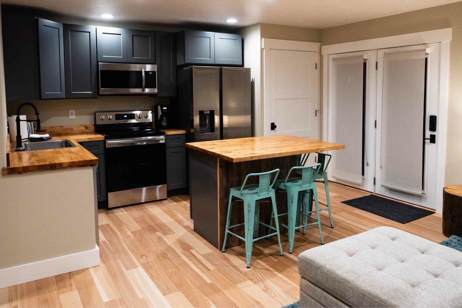 Quaint kitchen/living area