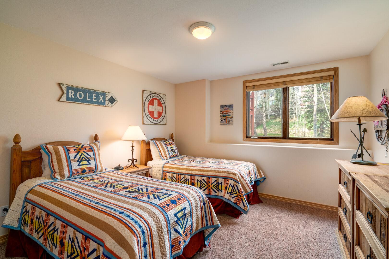 Lower level twin bedroom #2