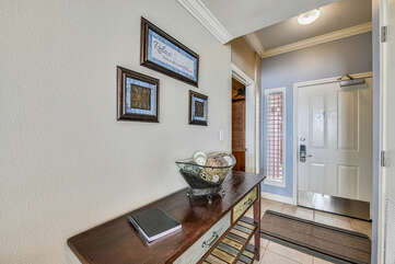 Front door, foyer