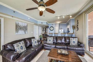 Living Room + sleeper sofa