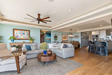 The Living room decorations bring the ocean into your home.