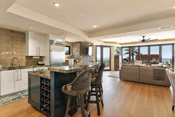 Open floor plan gives you the opportunity to take in the ocean view.