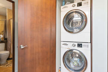 A washer and dryer is available during your stay.