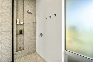 Lave Suite walk-in shower.