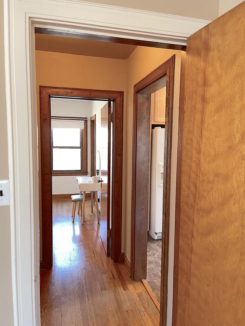 Hallway between living/dining/master bedroom