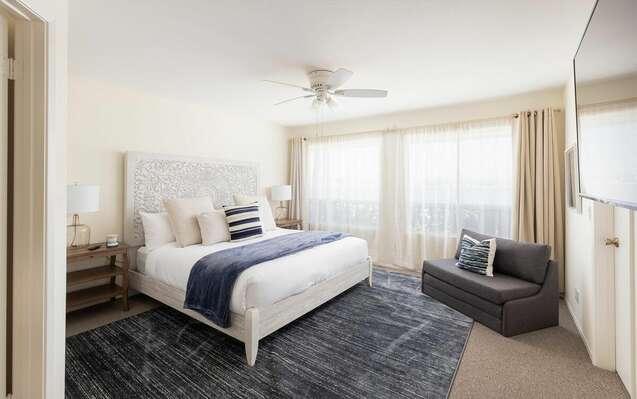 Master Bedroom w/ King + Twin Sleeper Sofa - First Floor