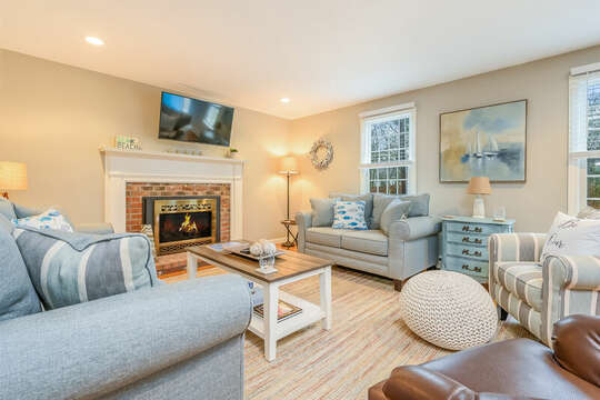 Inviting and comfy living area to enjoy a nightly movie-46 Har-Wood Ave Harwich- Cape Cod- New England Vacation Rentals
