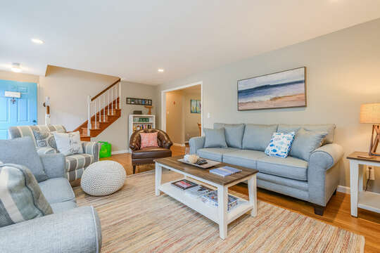 Grab a seat on the couch or chairs to recap the day-46 Har-Wood Ave Harwich- Cape Cod- New England Vacation Rentals