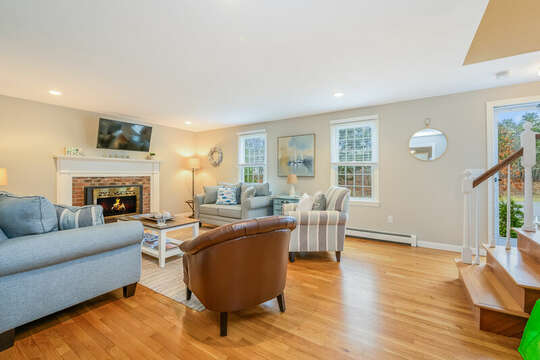 Living room with ample seating-46 Har-Wood Ave Harwich- Cape Cod- New England Vacation Rentals