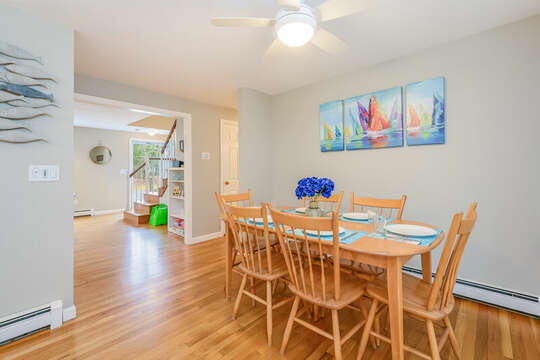 Dining area with seating for 6 -46 Har-Wood Ave Harwich- Cape Cod- New England Vacation Rentals