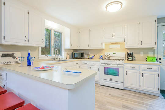 Plenty of room in the kitchen to whip up your favorite meals at -46 Har-Wood Ave Harwich- Cape Cod- New England Vacation Rentals