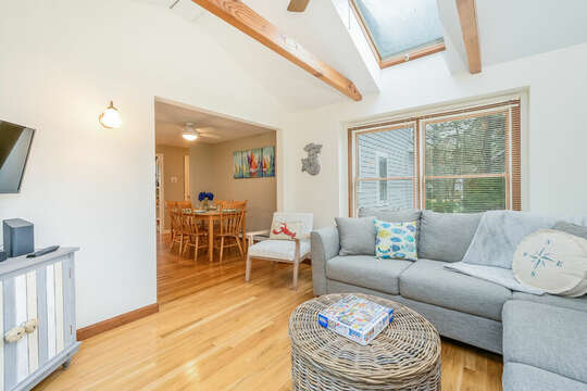 Sun room with Tv and back yard access-46 Har-Wood Ave Harwich- Cape Cod- New England Vacation Rentals