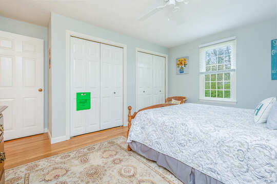 Bedroom #2 Queen bed with double closets -46 Har-Wood Ave Harwich- Cape Cod- New England Vacation Rentals