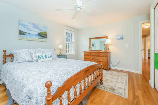 Bedroom #2 Queen bed dresser and closets-46 Har-Wood Ave Harwich- Cape Cod- New England Vacation Rentals