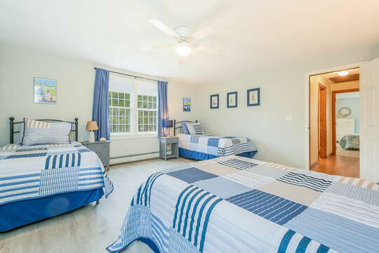 Bedroom #4 with 1 double bed and 2 twins-46 Har-Wood Ave Harwich- Cape Cod- New England Vacation Rentals