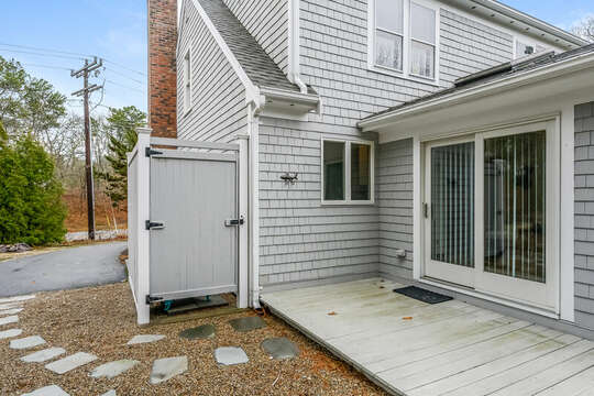 Out door shower and driveway -46 Har-Wood Ave Harwich- Cape Cod- New England Vacation Rentals