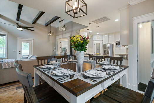 8-seat dining table and chairs