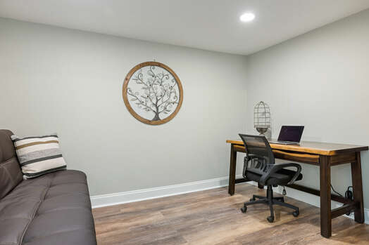 Full-size futon and office space