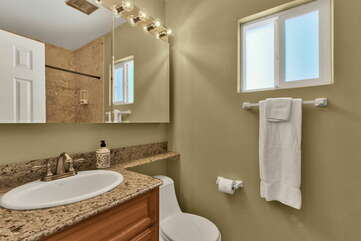 Separate Full Private Master Bath with a Tub/Shower Combo