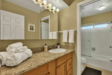 Full Shared Bath with a Separate Shower
