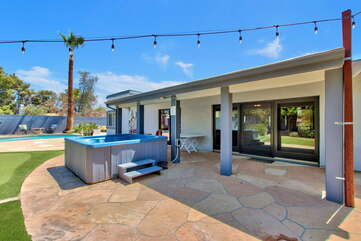 Covered Patio and Soothing Hot Tub