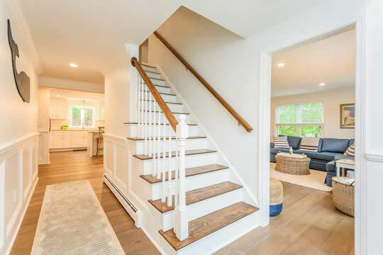 Stairs to upper level - 21 Moon Compass Lane Sandwich Cape Cod - New England Vacation Rentals