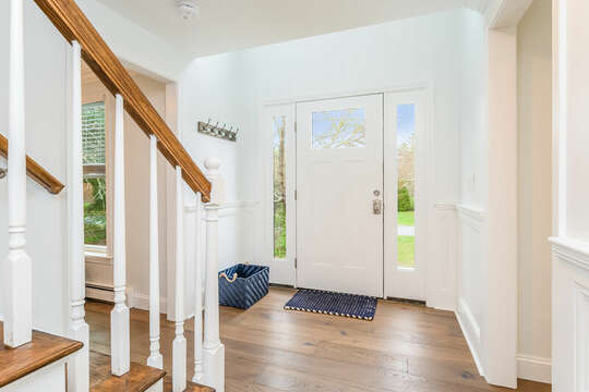 Main entrance to 21 Moon Compass Lane Sandwich Cape Cod - New England Vacation Rentals