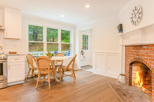 Kitchenette in the kitchen with fireplace - 21 Moon Compass Lane Sandwich Cape Cod - New England Vacation Rentals