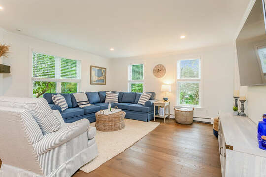 Family room with lots of seating - 21 Moon Compass Lane Sandwich Cape Cod - New England Vacation Rentals