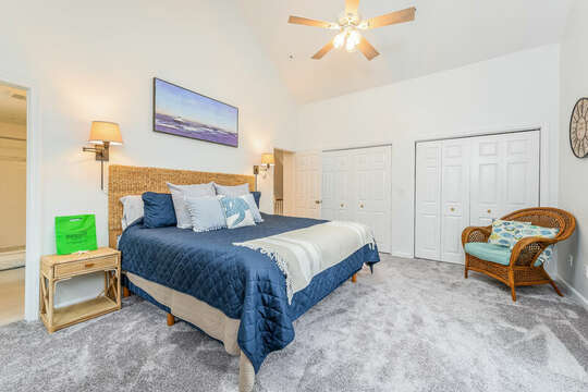 King bedroom #3 - 21 Moon Compass Lane Sandwich Cape Cod - New England Vacation Rentals