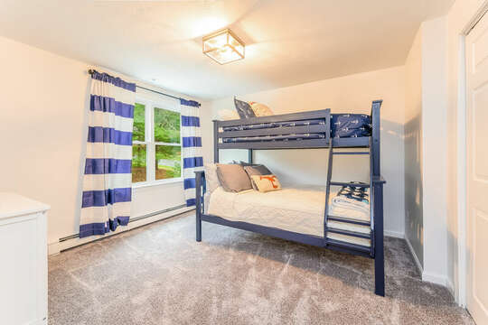 Twin / Full Bunks in Bedroom #2 - 21 Moon Compass Lane Sandwich Cape Cod - New England Vacation Rentals
