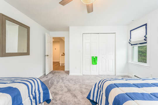 Bedroom #4 - Queen and Twin - 21 Moon Compass Lane Sandwich Cape Cod - New England Vacation Rentals