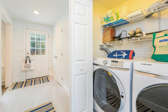Laundry area off of kitchenette - 21 Moon Compass Lane Sandwich Cape Cod - New England Vacation Rentals