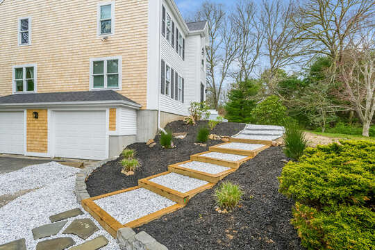 Driveway to front entrance - 21 Moon Compass Lane Sandwich Cape Cod - New England Vacation Rentals