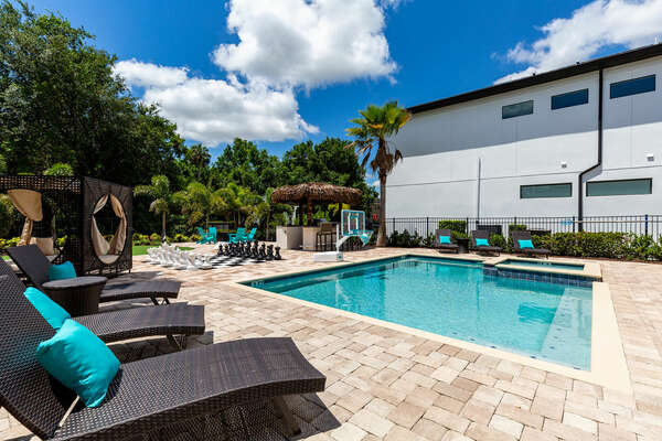 Swim and splash in your private pool