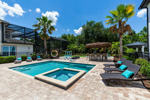 Valhalla Paradise features 3,361 sq. ft. of luxury living, games room, custom-built kids bedrooms, an extended pool area and can accommodate up to 16 guests