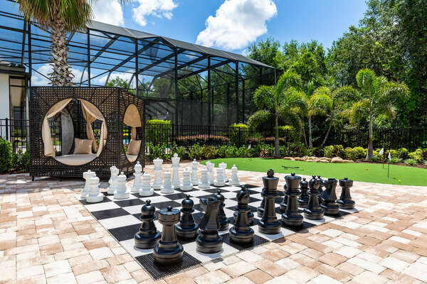 Outdoor chess board perfect for a day of fun