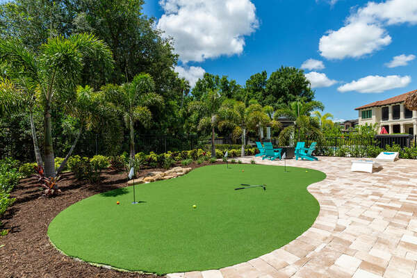 Practice your putting before hitting one of the 3 signature golf courses at Reunion Resort