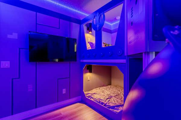 Second full bunk bedroom
