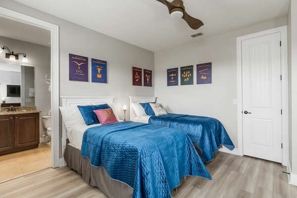 Dream of magical spells in the Wizard-inspired twin suite