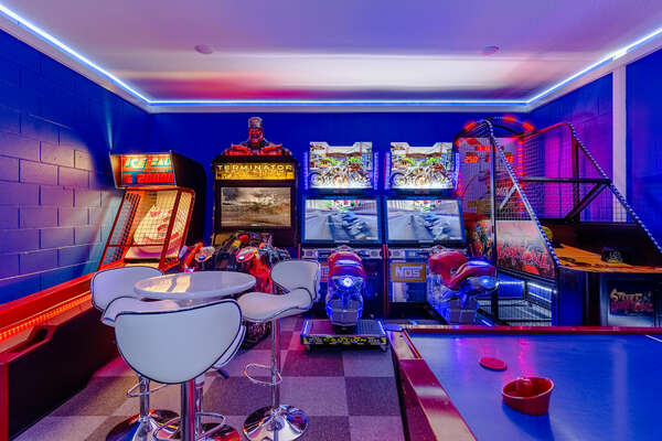 Kids of all ages will be overjoyed when they see the game room