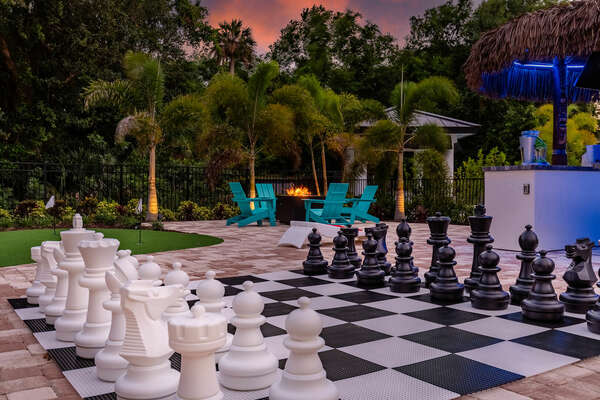 Challenge your family to a game of large chess
