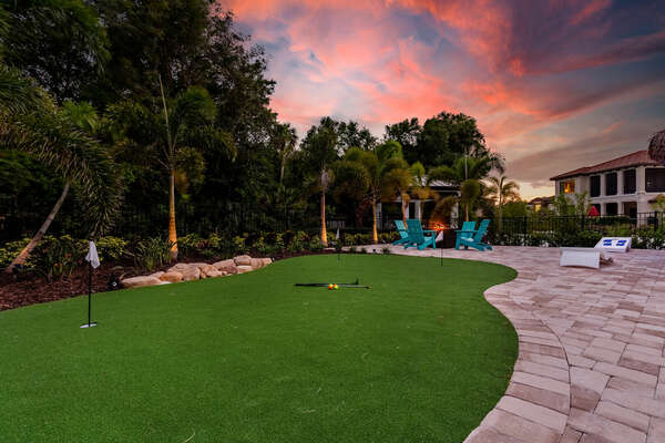 Practice your putting on your private putting green
